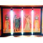 4 Paneles Cortinas Blackout Dobles Pintadas A Mano