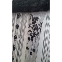 Cortinas De Formas Combinadas Flecos-flores-maripositas
