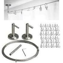 Ikea - Kit Tensores Acero Inox.dignitet 5 Mt.+ Ganchos X 24u