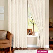 ¡cortinas Rusticas Jackard Super Pesadas! Juego De Dos Paños