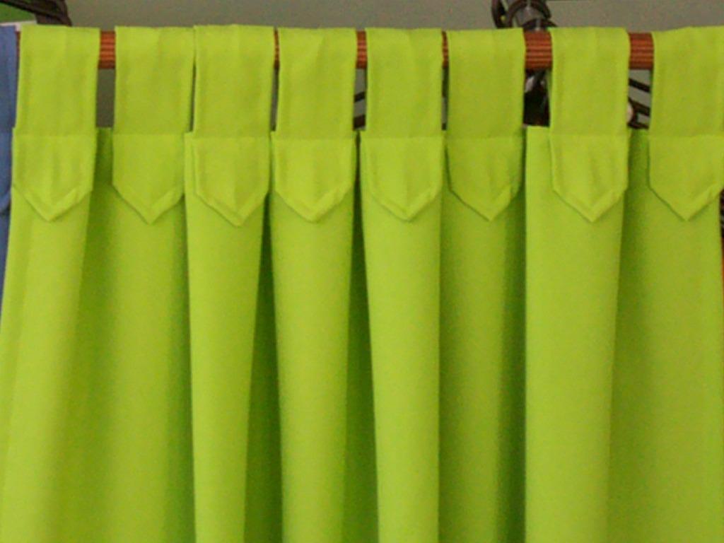 Como hacer cortinas de tela imagui for Como poner ganchos de cortinas