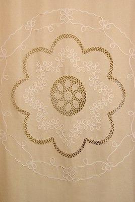 Cortinas de ba o en tela pictures to pin on pinterest - Telas bordadas para cortinas ...
