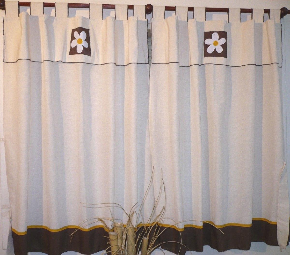 Fotos de cortinas de cocina imagui for Cortinas de tela para cocina