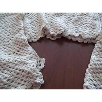 Tres Paños De Cortina Artesanal Tejido Crochet