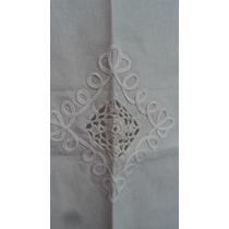 Visillo Cortina Tela Rustica Bordado Calado Crochet