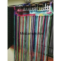 Cortina Crochet Totora. Modelo Tiras Lisas O Con Nudos