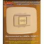 Leloy / Interruptor De Empotrar Tres Puntos - 1 Bahia