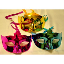 Máscara Veneciana Antifaz Carioca Cotillon Pack X10 Surtidas
