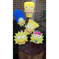 Gorros Artesanales De Goma Espuma Cotillón Flia. Simpson