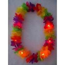 Cotillon Collares Hawaianos Luminosos Led X 10 Unidades