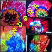 5 Pelucas Punk Luminosas , Halloween, Fiesta 15 $ 450