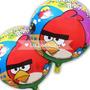 10 Globos Angry Birds Metalizados 45 Cm Cotillón