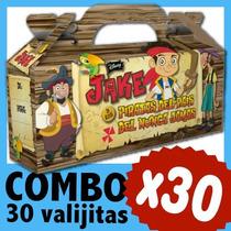 Jake Y Los Piratas Cajita Valijita Bolsita Combo X 30