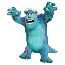 Globo Metalizado Monster Inc Sulley Mike Cotillon Fiesta