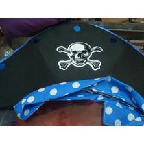 Sombrero Pirata De Tela, Super Lindo!!!!!!!