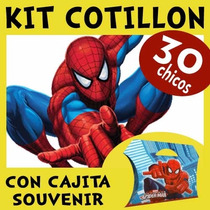 Spiderman Hombre Araña Kit Combo Con Cajita Souvenir X 30