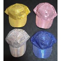 Caps / Gorra De Lentejuelas - Colores Surtidos X 10 Unidades
