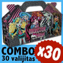 Monster High Cajita Valijita Bolsita Souvenir Combo X 30
