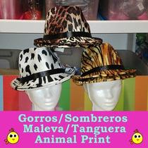 Sombreros Gorros Malevo Tanguero Animal Print - Excelentes !
