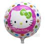 Globos Metalizados 45 Cm Hello Kitty Pack X 10 Cotillón