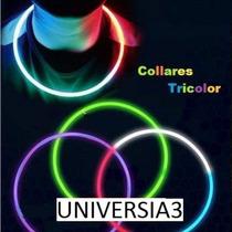 10 Collares Quimicos Fluor Neon Cotillon Luminoso Colgantes