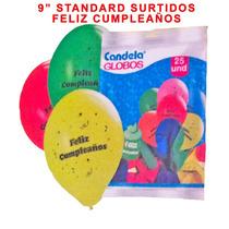 25 Globos Surtidos Cumpleaños -superpromoción La Golosineria