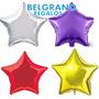 50 Globos Estrella Metalizados 45 Cm 18 Pulgadas Aire/ Helio