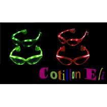 Cotillon. Anteojos Luminosos 10leds Ovalados X 3 Unidade