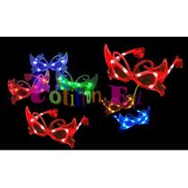 Cotillon Anteojos Luminosos Mariposa 10 Leds X 3 Unidades
