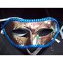 10 Antifaz Mascara Veneciana Brillo Y Pespunte ,roro1000