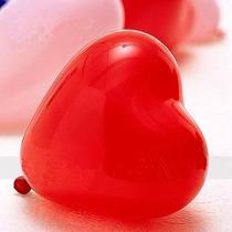 Globos De Corazon De 12 Color Rojo/ Violeta/rosa