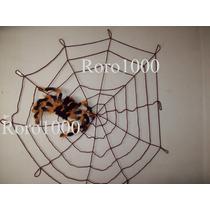 Halloween Araña Gigante Con Tela De Araña