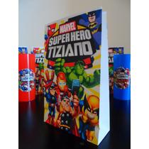 Bolsitas Marvel Super Hero Squad Spiderman Hulk Iron Man