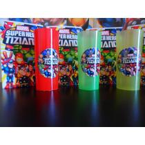 Platos Vasos Marvel Super Hero Squad Spiderman Hulk Iron Man