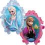 Globo Frozen 80cm Anna, Olaf, Elsa. Helio O Aire