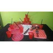 Combo Cumpleaños, Platitos , Platos , Vasos , Globos, Mantel