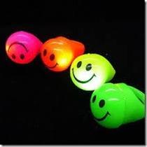Anillos Silicona Led Carita Smile Cotillon X 20!!!