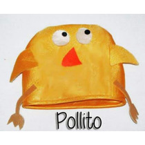 Gorro Pollito Pack X10 Cotillon Pucci