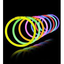 Pulseras Brazalete Neón Luz Química Por 50 Unidades Regalos