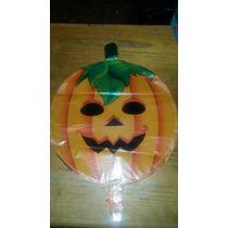 Globos Metalizados Con Forma De Calabaza Halloween 45cm