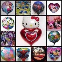 Globo X 10 Metalizado Souvenirs, Mickey, Minie,kity, Disney