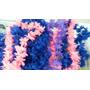 Collar Hawaiano Con Flores De Tela De Un Color