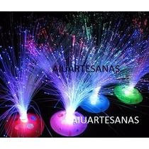 Oferta Centros De Mesa Luminoso Fibra Optica , Sin Pilas X6
