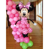 Muñeca Minnie O Mickey En Globos - Decoracion En Globos