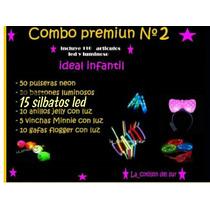 Combo Cotillon Luminoso Vinchas Pulseras 110 Art!!!