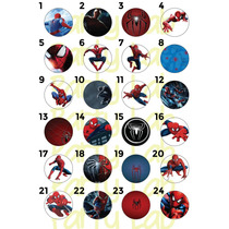 20 Pines Spiderman Personalizados (55mm)