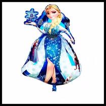 Globo Metalizado Gigante Frozen Elsa Disney Souvenir Forma