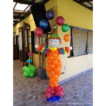 Payasos Decoración En Globos - - Bautismos - Cumpleaños