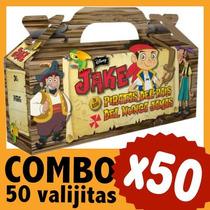 Jake Y Los Piratas Cajita Valijita Bolsita Combo X 50