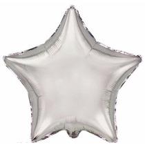 10 Globos Estrellas Metalizados Aire O Con Helio Plata Oro
